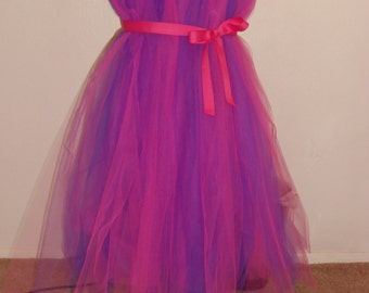 Tutu dress pink and purple