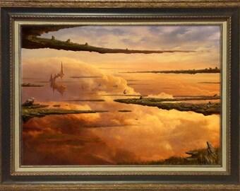SANCTUM OF SERRA, by Artist Rob Alexander, 18x24 framed print on canvas