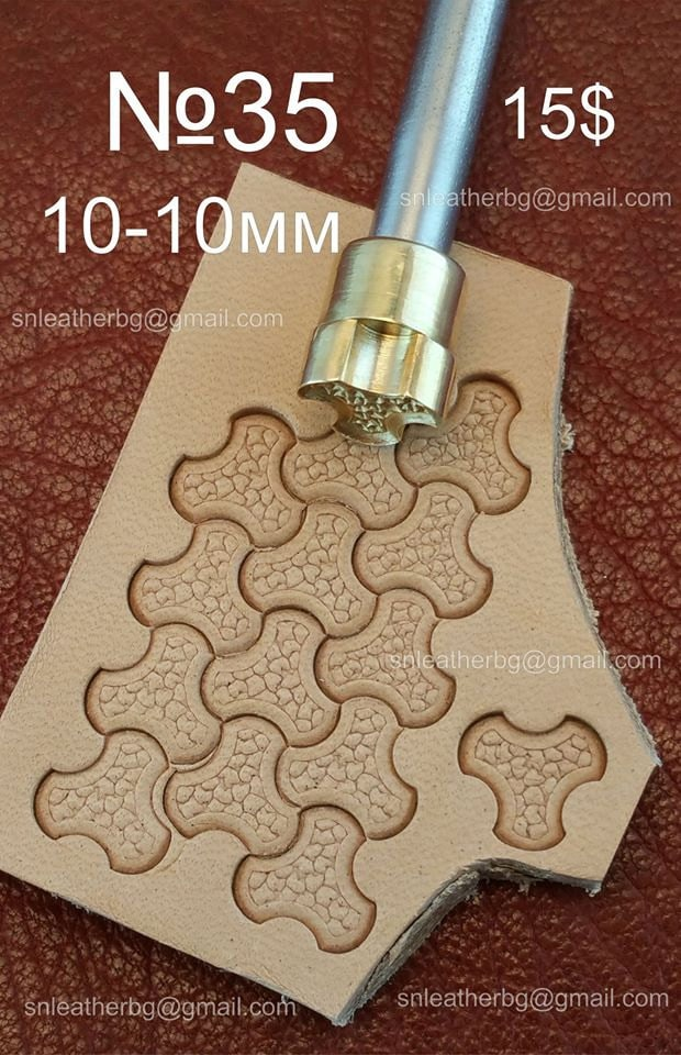 Tools for leather crafts stamp