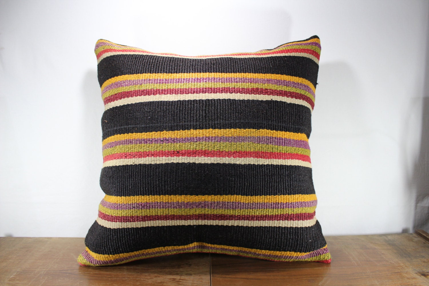 Large Size Kilim Pillow Cushion Cover 24x24 Pillow Cover Throw