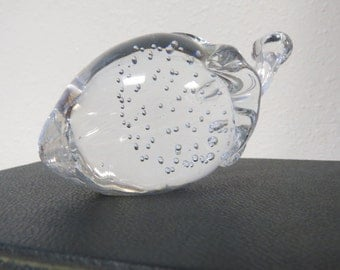 Glass Paperweight Vintage Controlled Bubble Glass