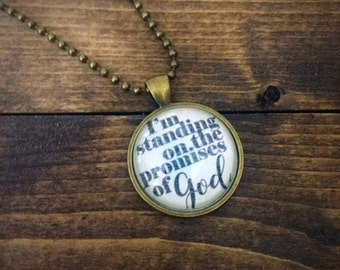 Standing on the Promises Pendant Necklace