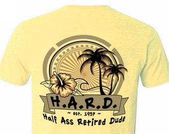 The Greatest Coastal Retirement Gift, Butter Palm Comfort Color T-Shirt