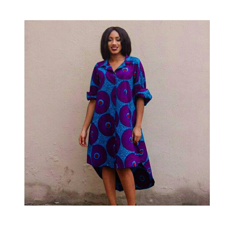 african shirt dress ankara shirt dress by truefond on etsy. Black Bedroom Furniture Sets. Home Design Ideas