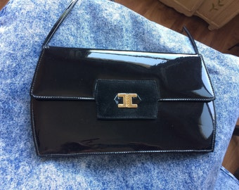 90s Patent Leather Evening Bag