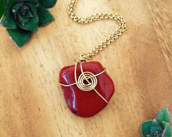 Eternity Red Jasper Necklace