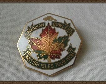 Canadian bowlers British Isles tour 1936 badge