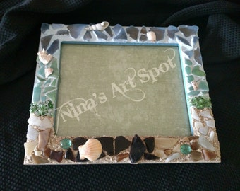 Sea Shore Mosaic Frame MFSS1