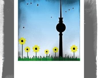 Polaroid postcard - Berlin in the spring