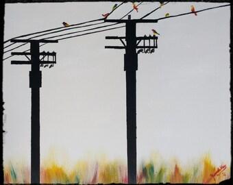 Colored Birds- Fine Art Print