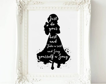 Disney Princess Wall Art , Snow White print,|Snow White Printable Art ,Snow White Printable, Nursery Wall decor girl Print Princess art