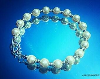 Vintage Pearl Beaded Bracelet