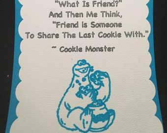 Sale! Cookie Monster Favor Tag (Set of 20)