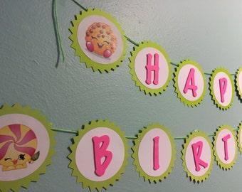 Sale! Customizable Shopkins Birthday Banner