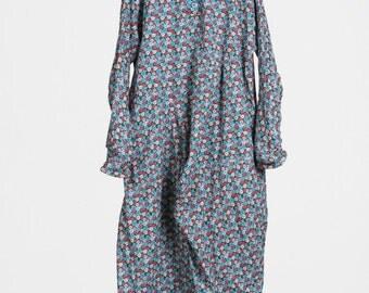 Reverse-wear Long Dress, Cotton