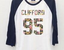 Michael Clifford Floral 5 seconds of summer 5sos Baseball T-shirt Jersey Long Sleeve Baseball shirt 3/4 Men shirt Women shirt Baseball tees