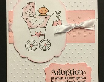 Baby Adoption Card