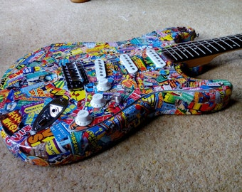 Decorative Manga Style Electric Guitar