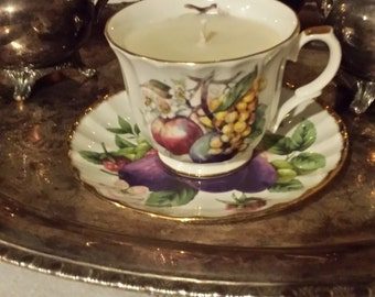 Vintage Crown Trent Soy Candle Tea Cup