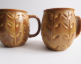 Mid Century Glazed, Ceramic, Pottery Coffee/Tea Mugs/Cups. Made in Japan