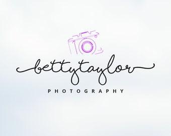 Premade Handwriting Photography Logo - Signature Photographer Logo Design & Template, Business Camera Logo, Watermark - ID 122