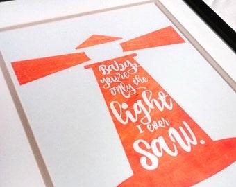 John Mayer Lighthouse Lyric Art