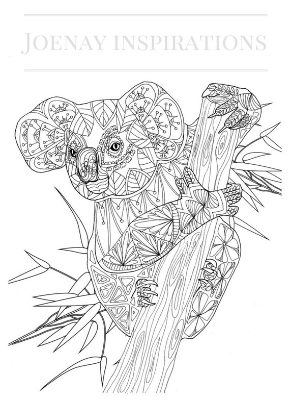 Adult Coloring Book, Printable Coloring Pages, Coloring Pages, Coloring Book for Adults, Instant Download, Amazing Animals page 1