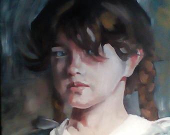 Painting, Vintage Girl