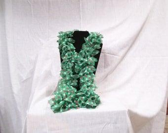 Merry dots ruffle scarf