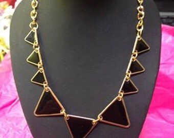 Necklace black triangle