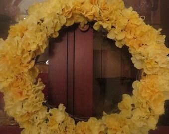 Yellow Flower Wreath,Summer/Spring Wreath,Fancy Wreath