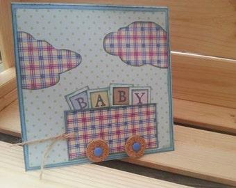 """Handmade card """"It's a boy"""""""