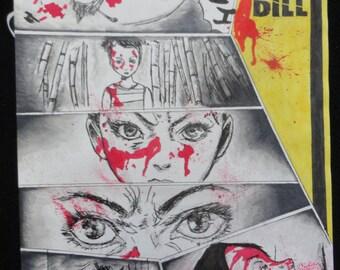 Illustration Original Kill Bill has ink and promarker format A4