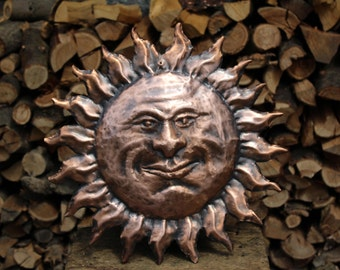 Sun summer decoration handmade copper