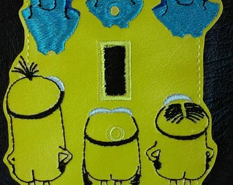 Minions laundry day light switch plate