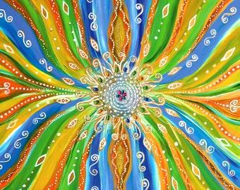 Energetic bedding with Adriana Karima's Art- Mandala of Joy