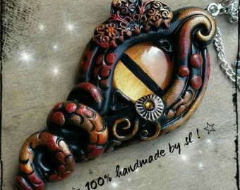 Dragon eye dragon eye Ozmarik Dragon chain lucky charm pendant unique handmade necklace LARP medieval
