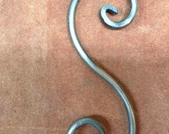 Decorative Iron filigree swirl letter S