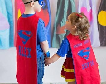 Superwoman Superman costume, Kids costume, Kids superhero costume, kids superwoman costume, kids superman costume, Kids superhero cape