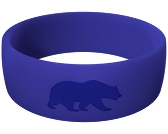 Men's Navy Blue Silicone Wedding Ring