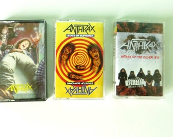 Anthrax 3 Cassette Tapes - Spreading The Disease / State of Euphoria / Attack of the Killer B's