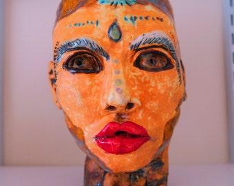 Ceramic Shaman's Head