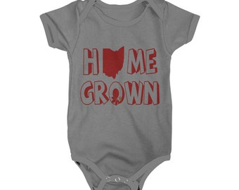 Ohio State Home Grown Onesie