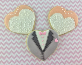 Wedding, Rehearsal Dinner, Bachelorette Party,  Luncheon,  Favor, Shower, Bride and Groom, Monogram, Cookies