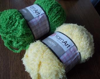 Fantazy yarn Happy, terry yarn, furry yarn, baby yarn, blanket yarn, knitting yarn,