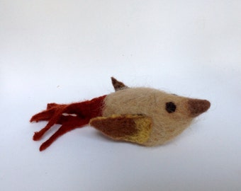 Pincushion, needle felted chicken, Pin cushion, Felt sculpture, gift, handmade