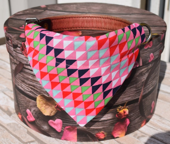 "Bandana ""Pink Triangles"" Bandanas for small or medium sized dogs cats"