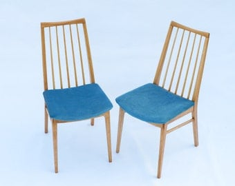 Pair of Mid-Century Dining Chairs c. 1960, Restored by Naphtaline