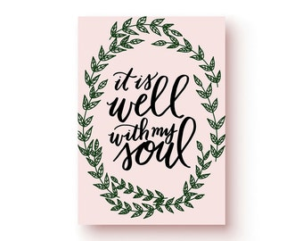 It Is Well Print | Bible verse print, gift print