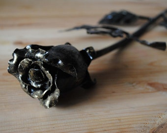 Forged rose handmade